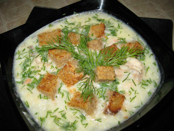 Как приготовить сырный суп с сухариками