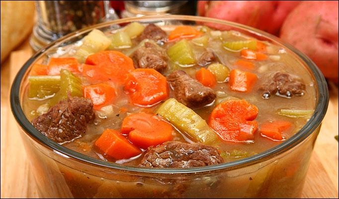 Суп на бульоне из говяжего языка