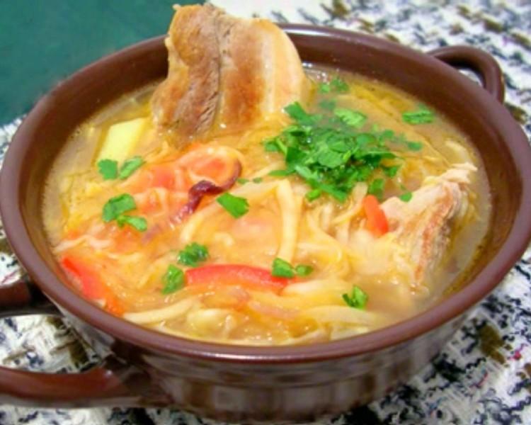 Барский суп со свининой