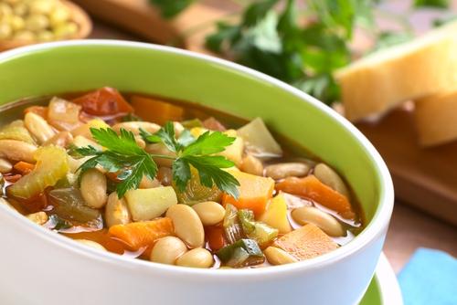 Сытный фасолевый суп