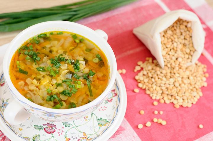 Диетический гороховый суп
