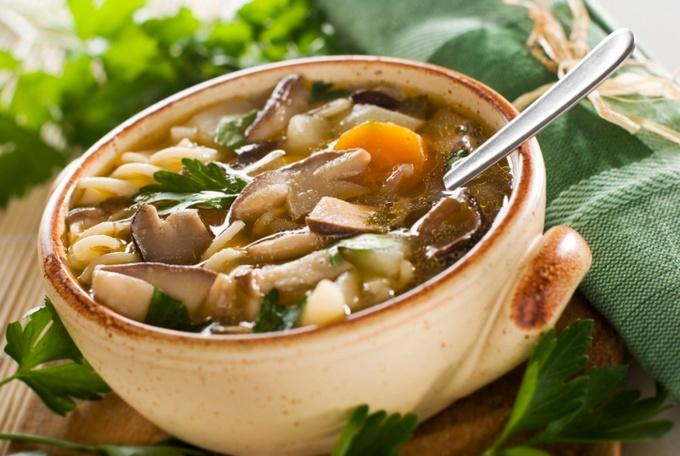 Рецепт грибного супа с капустой