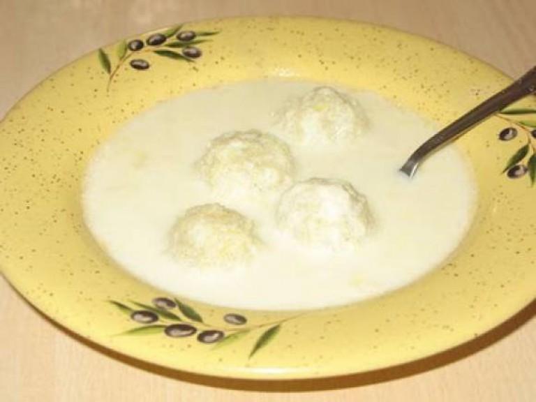 Молочный суп с клецками рецепты