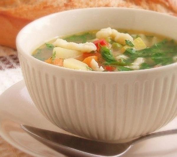 Сытный картофельный суп с клецками