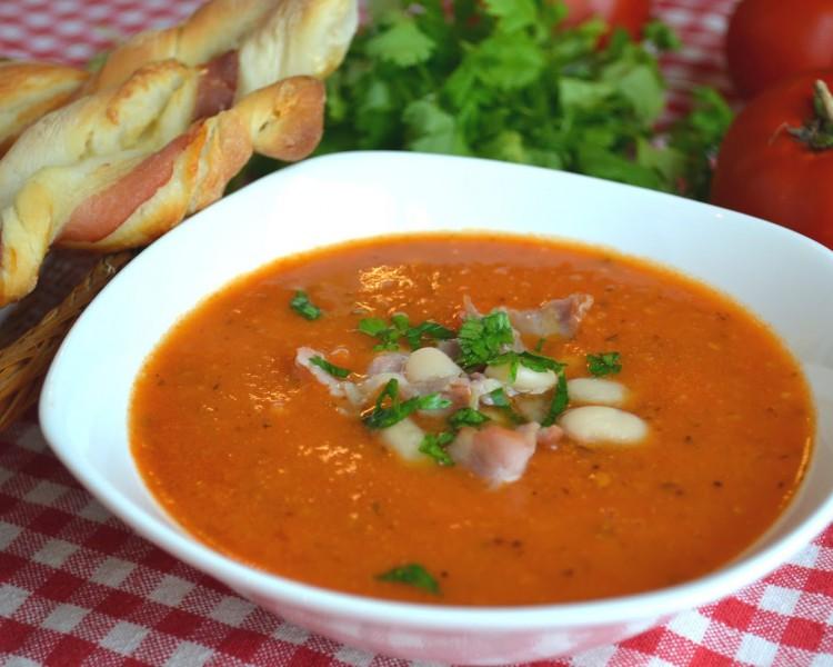 Готовим суп-пюре с фасолью