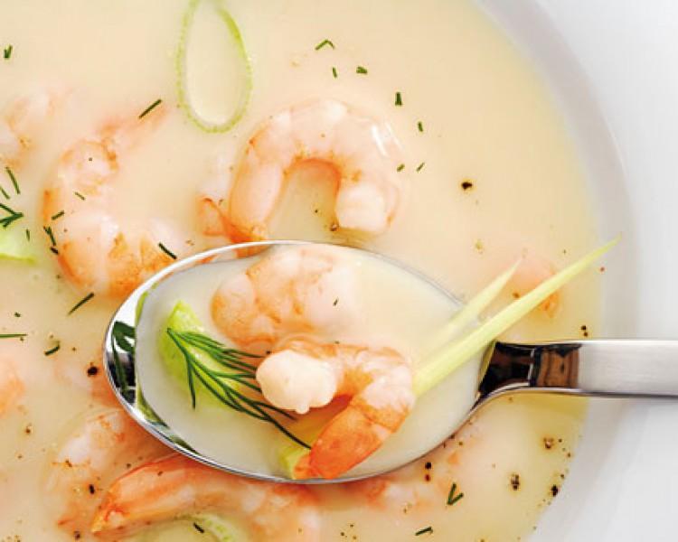 Готовим суп-пюре с креветками