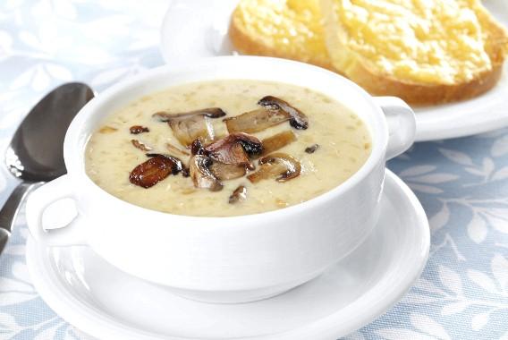Рецепт крем-супа с грибами и сыром