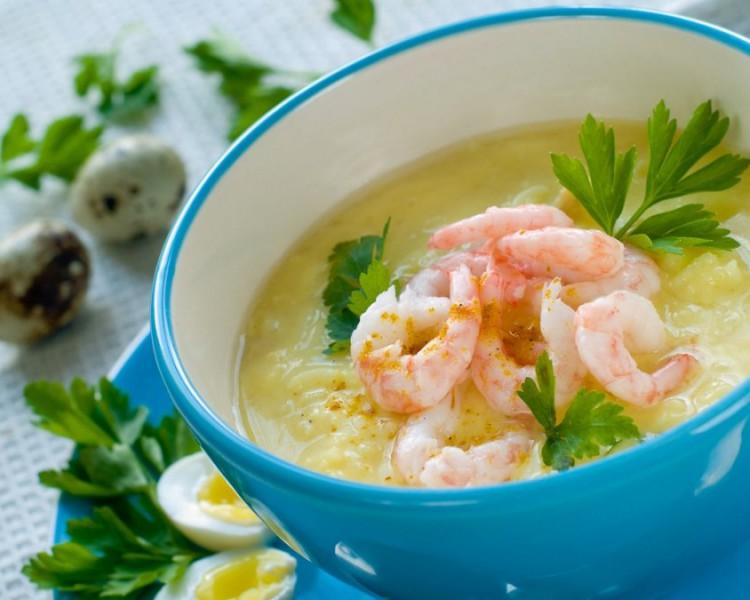 Суп-пюре с креветками