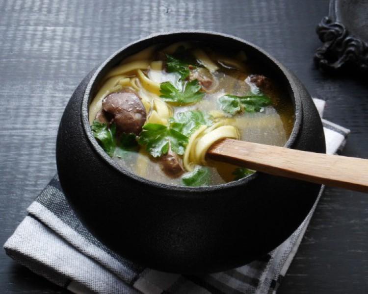 Вкусный суп с крупой и потрошками