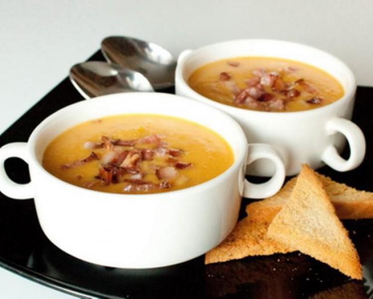 Зимний гороховый суп-пюре с копченостями