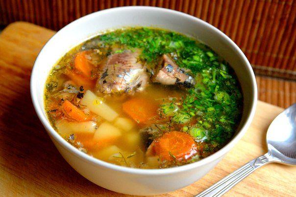 консервированная скумбрия в супе