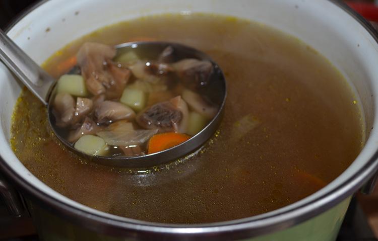 Вкусный грибной суп по рецепту