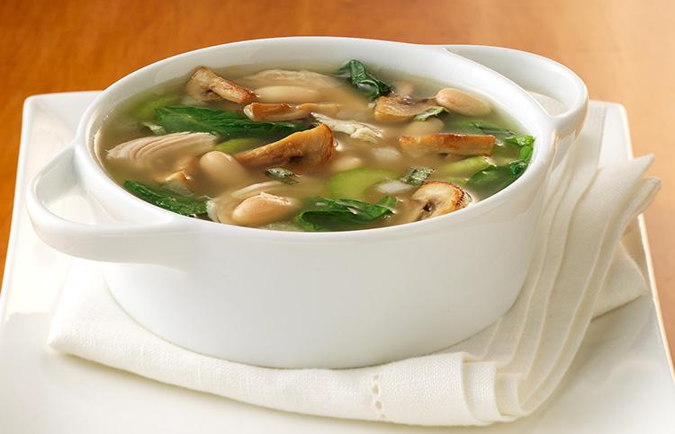 Аппетитный грибной суп с курицей