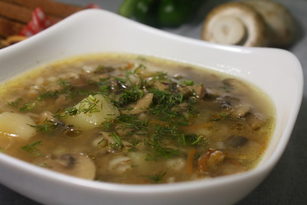 Вкусный суп с грибов