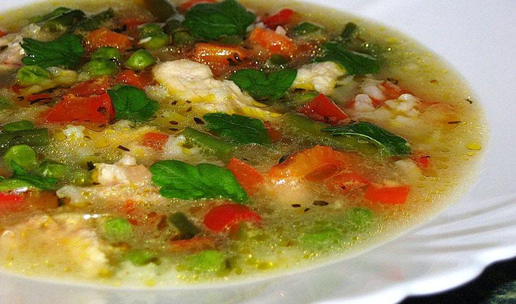 Быстрый суп из картошки и риса