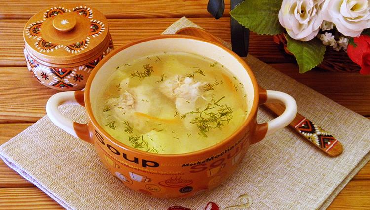 Полезный суп из картошки и риса
