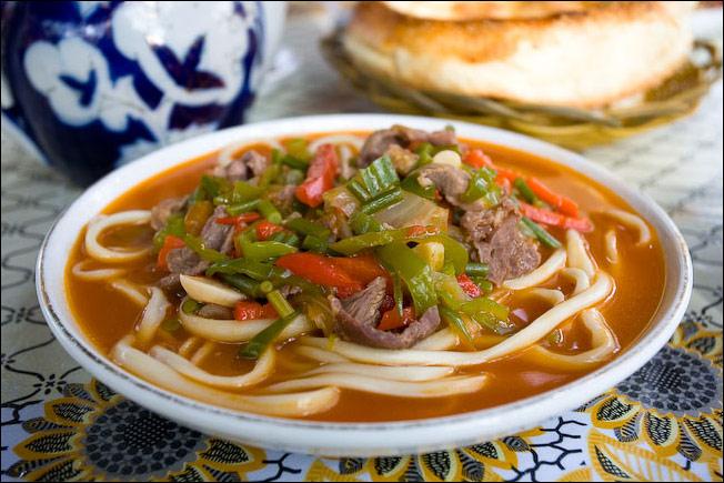 лагман-суп с мясной подливой