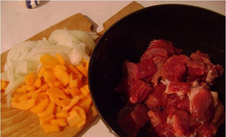 Ингредиенты для мясного супа