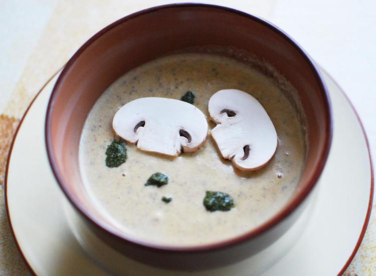 Готовый суп-пюре из грибов