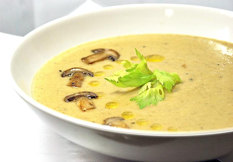 Вкусный и ароматный суп-пюре из грибов