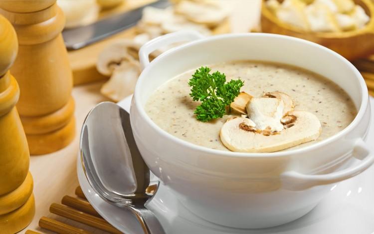 Вкусный суп-пюре с грибами