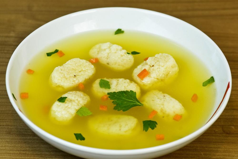 Овощной суп с клёцками