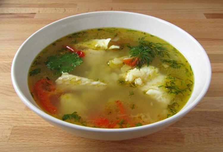 Рыбный супчик из минтая с рисом