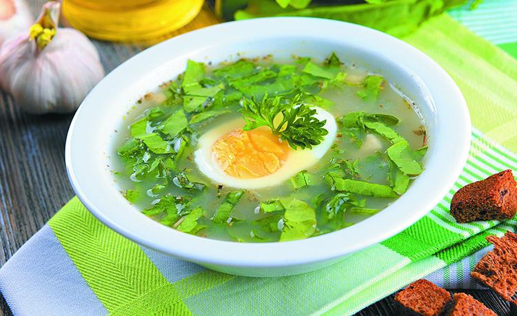 Легкий вкусный суп с яйцом