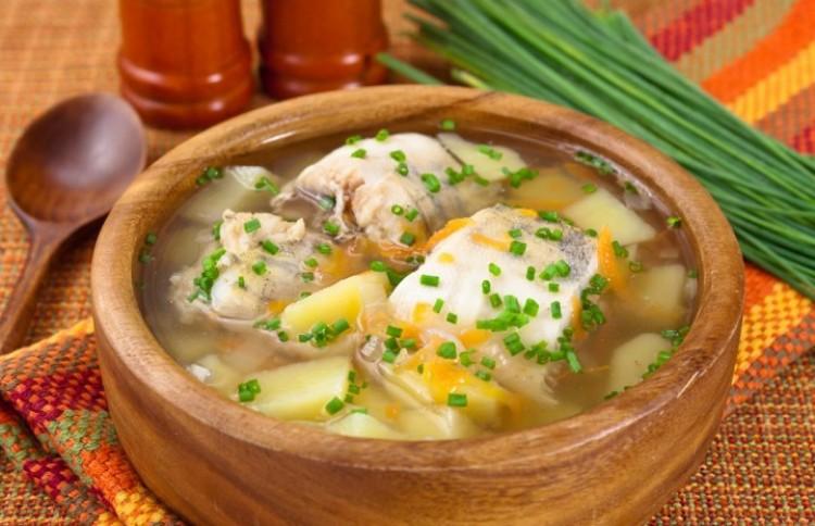 Ароматный суп из минтая