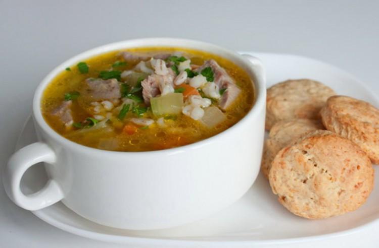 Вкусный перловый суп