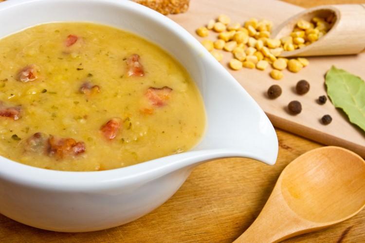 Гороховый суп с куриным мясом
