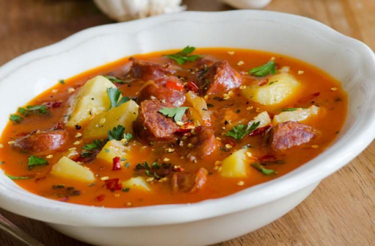 Суп с горохом и копчёностями
