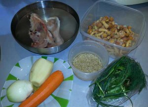 Ингредиенты на суп