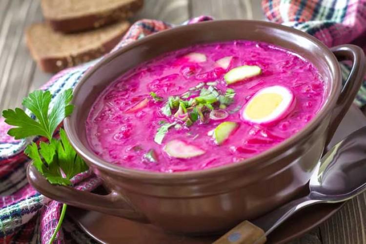 Вкусный холодный суп