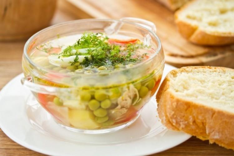 Вкусный суп с горошком