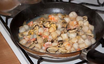 Приготовление морепродуктов