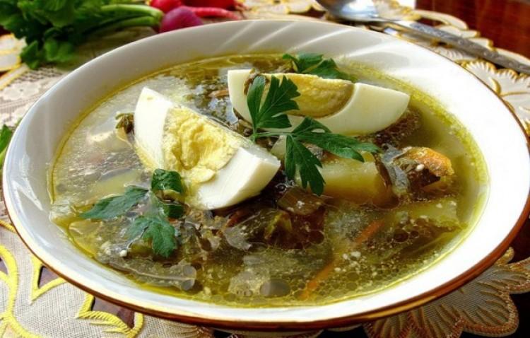 Вкусный суп с щавеля