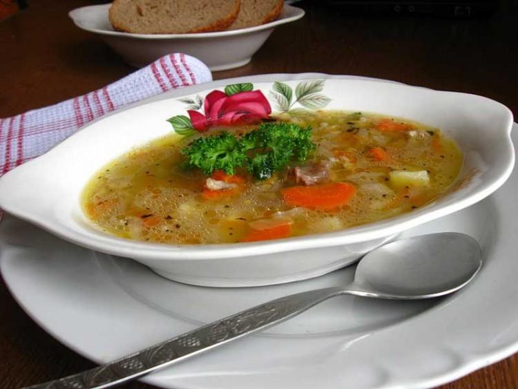 Вкусный суп из свинины