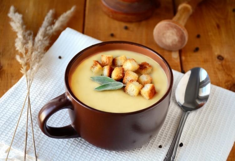 Вкусный суп пюре с гренками