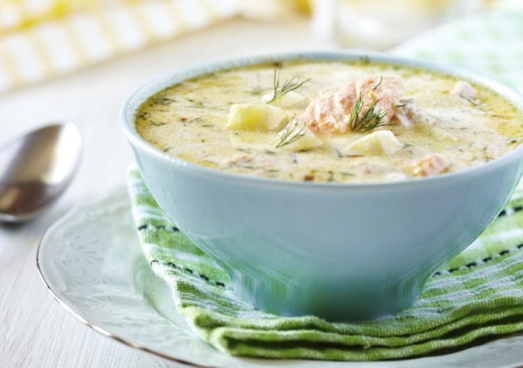 Вкусный рыбный суп со сливками