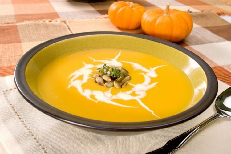 Сливочный суп с тыквой