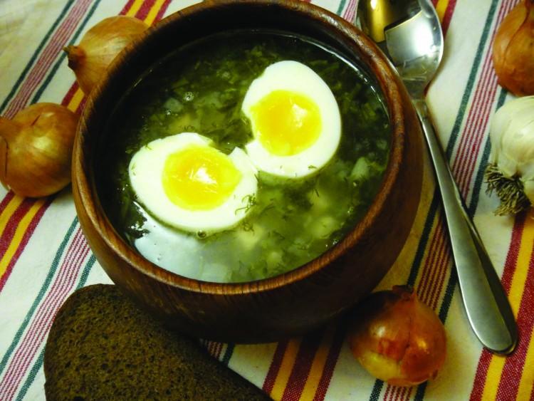Вкусный щавелевый суп