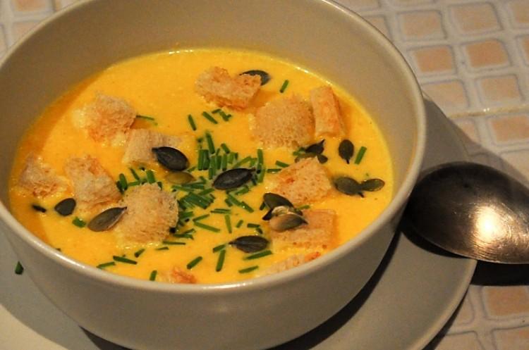 Вкусный тыквеный крм-суп