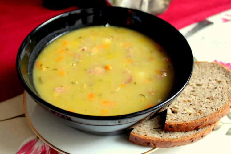 быстрый рецепт горохового супа с копченостями