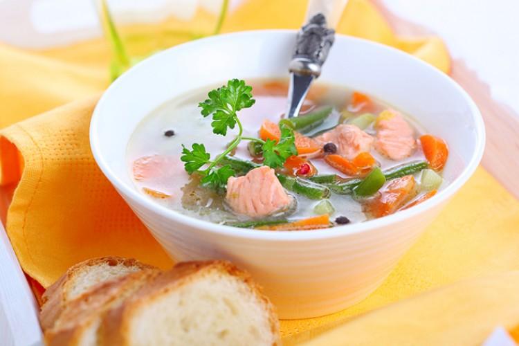 Вкусненький суп с горбушей