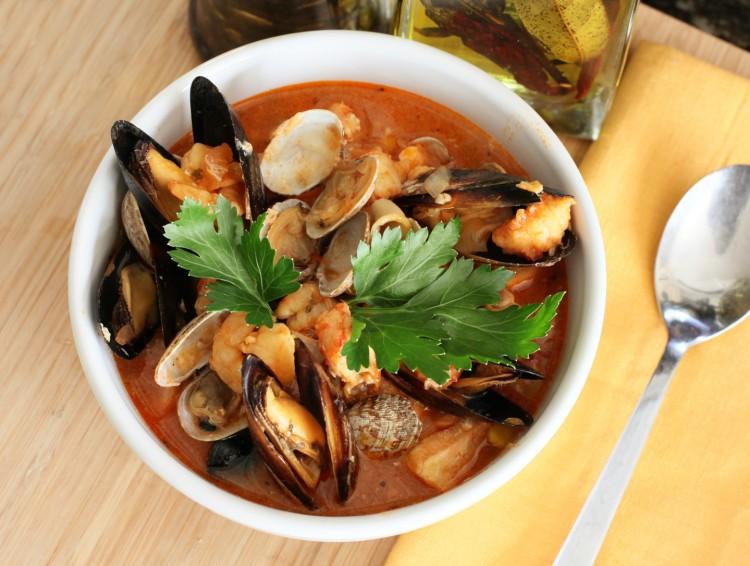 Вкусный супчик с морепродуктами