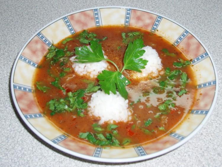Вкусный супчик с томатами