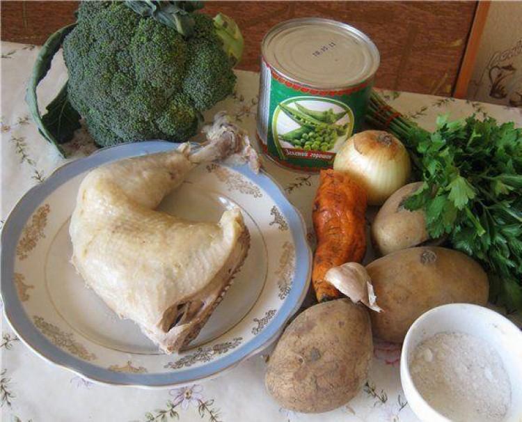 Ингредиенты к супу