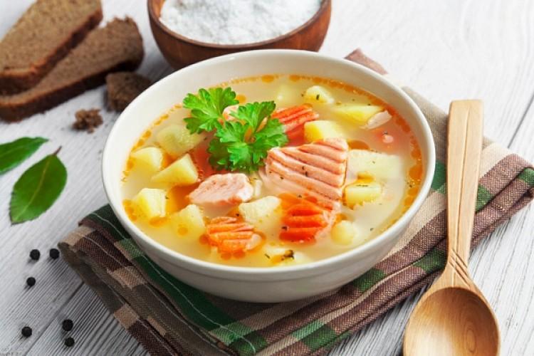 суп из обрези красной рыбы фото рецепт