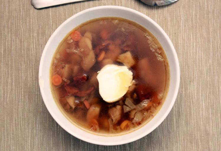 Вкусный суп с грибочками